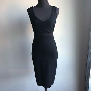 Lulu's sz S shear midriff fitted party dress